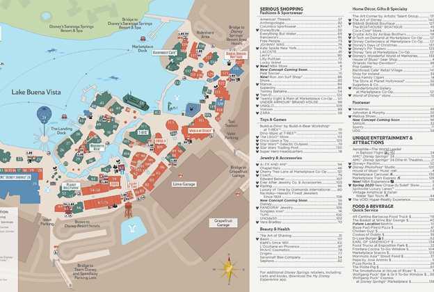 Disney Springs guide map - October 2020