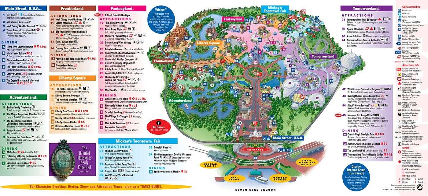 Adventureland Disney World Map.Park Maps 2008 Photo 4 Of 4