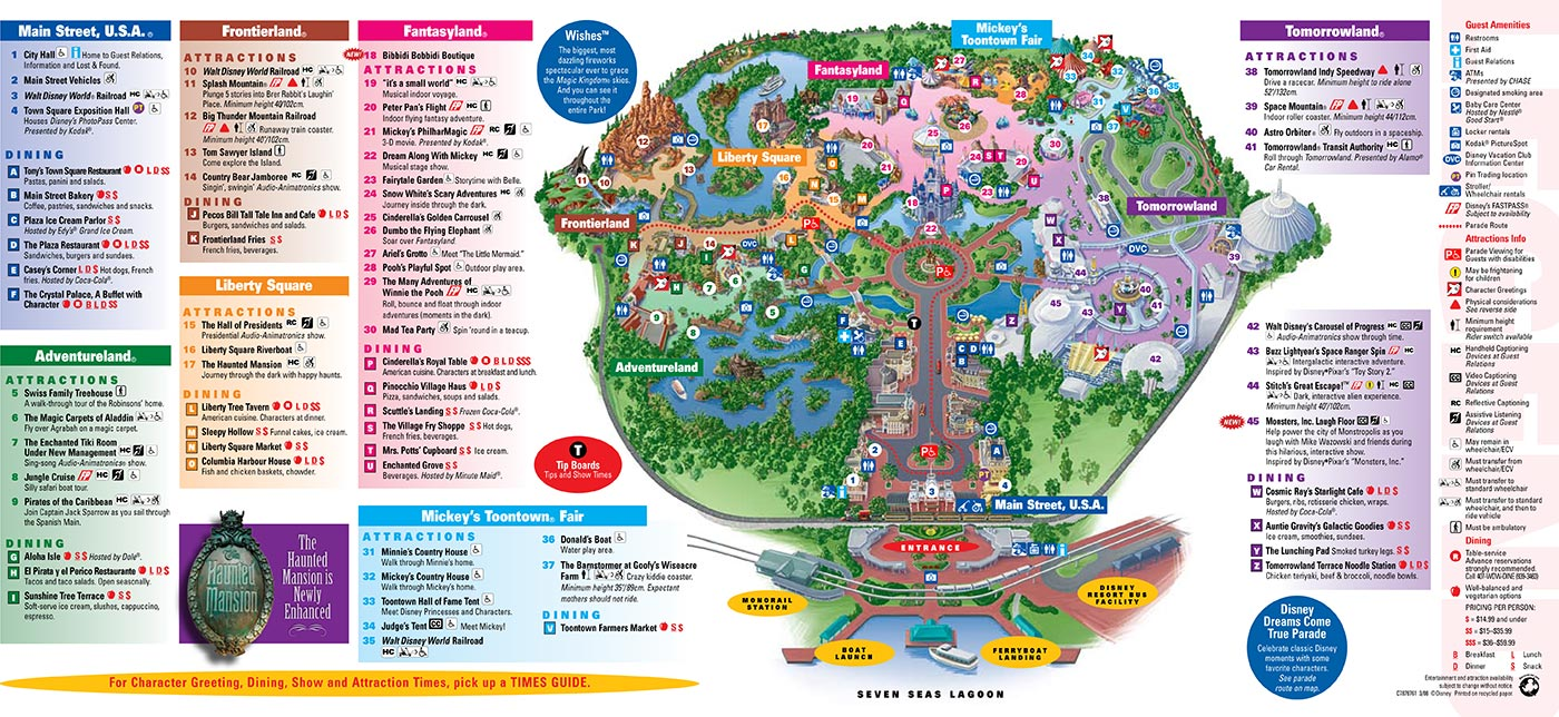 Magic Kingdom Map Park Maps 2008   Photo 4 of 4 Magic Kingdom Map