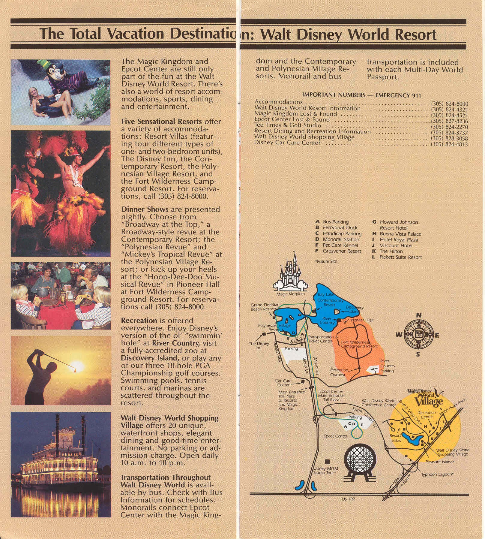 Epcot Center Guide Book 1986
