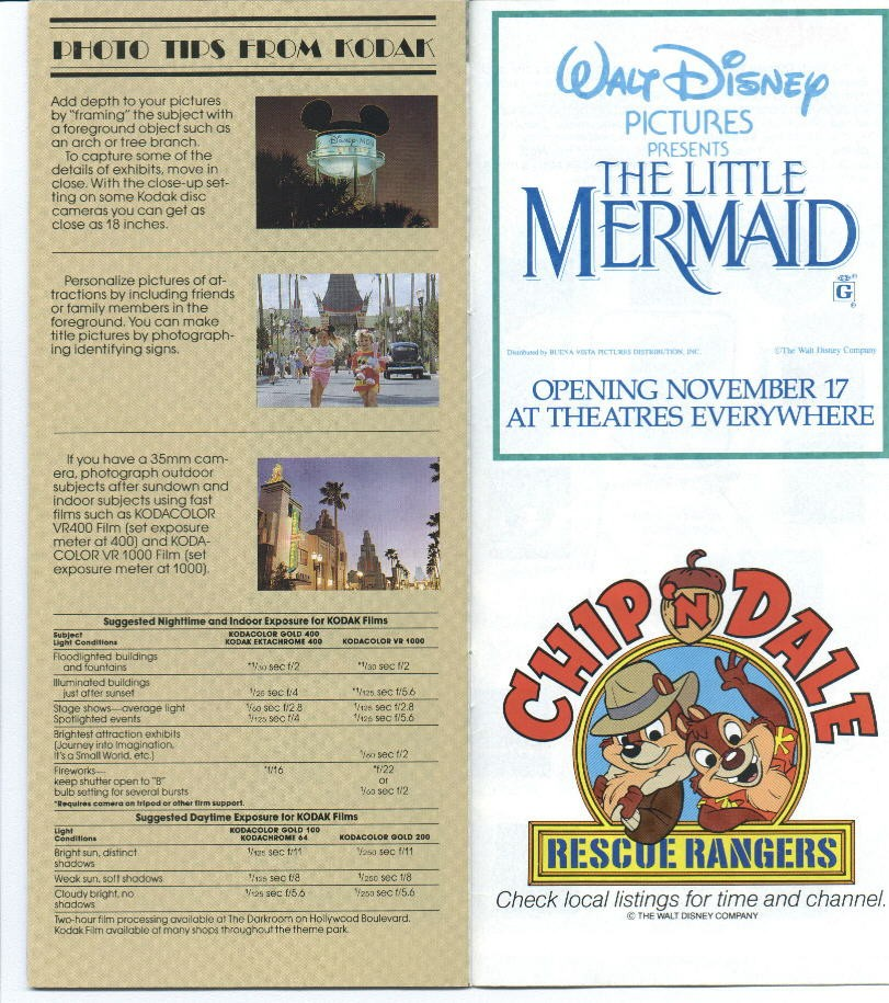 Disney-MGM Studios Guide Book 1990