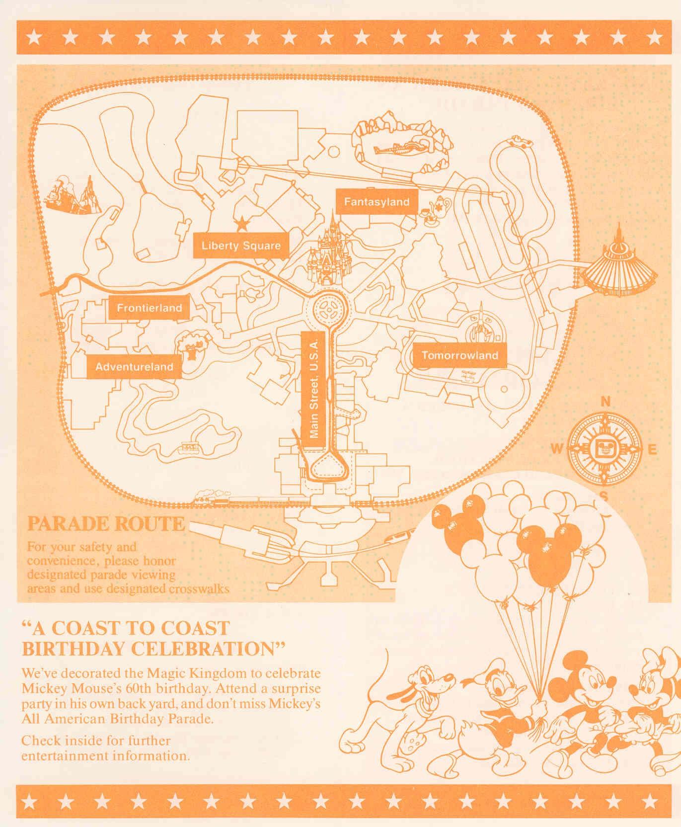 Magic Kingdom Show Guide 1989