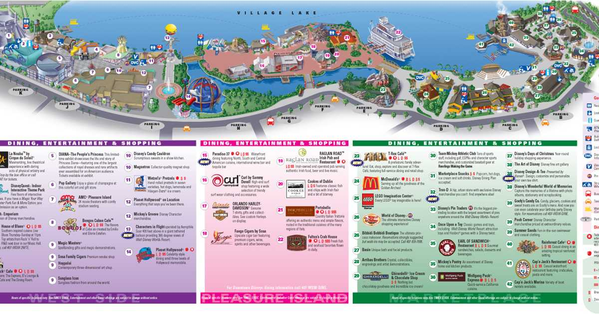 Map Of Downtown Disney Downtown Disney Maps 2009   Photo 1 of 2 Map Of Downtown Disney
