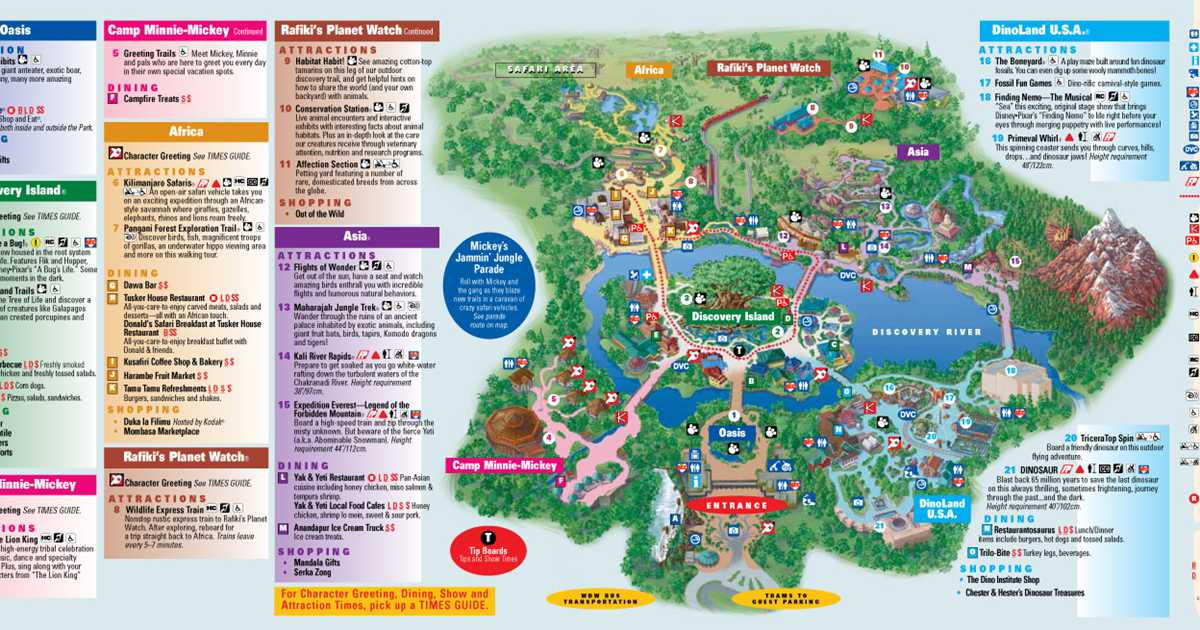 Disneyland Locations World Map.Park Maps 2010 Photo 1 Of 4