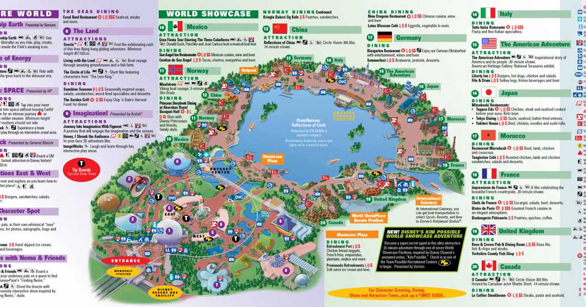 Park Maps 2010 - Photo 2 of 4 Disney Monorail Map on