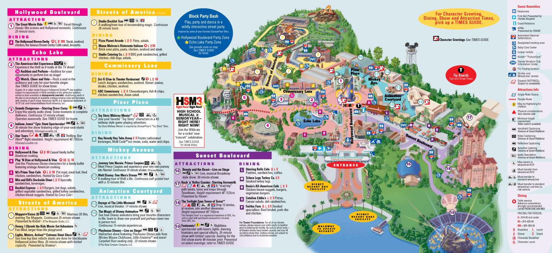 Disney World Map Hollywood Studios.Park Maps 2010 Photo 4 Of 4