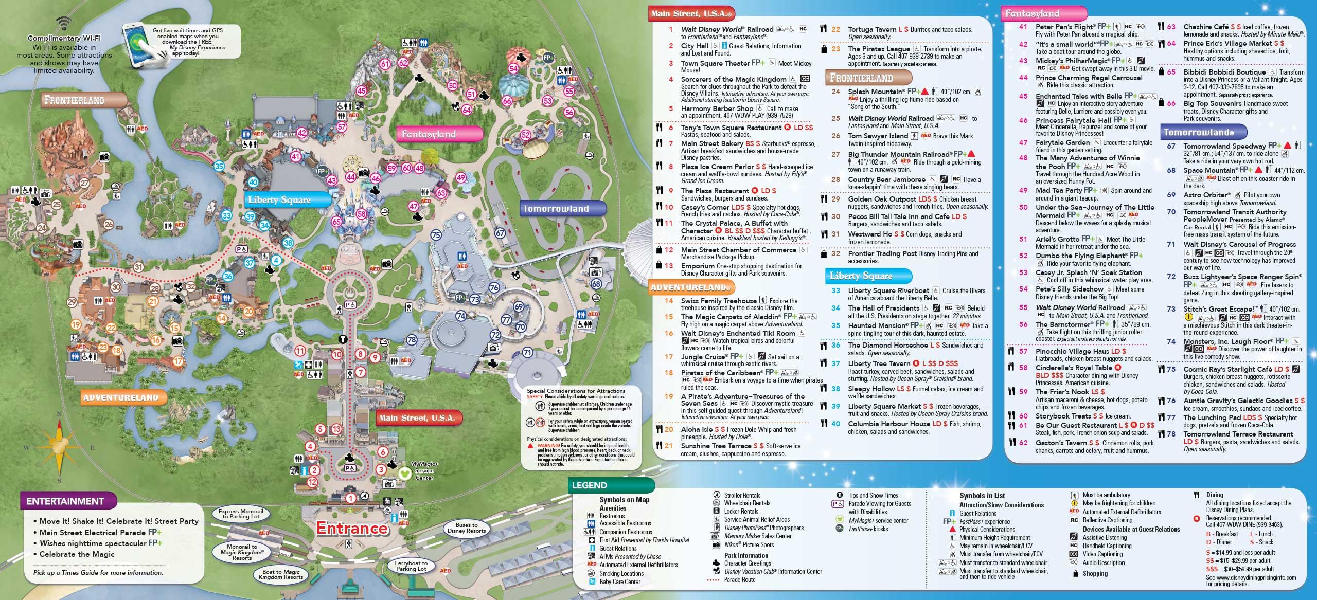 MyMagic+ and FastPass+ Magic Kingdom and Disney's Animal Kingdom guide maps