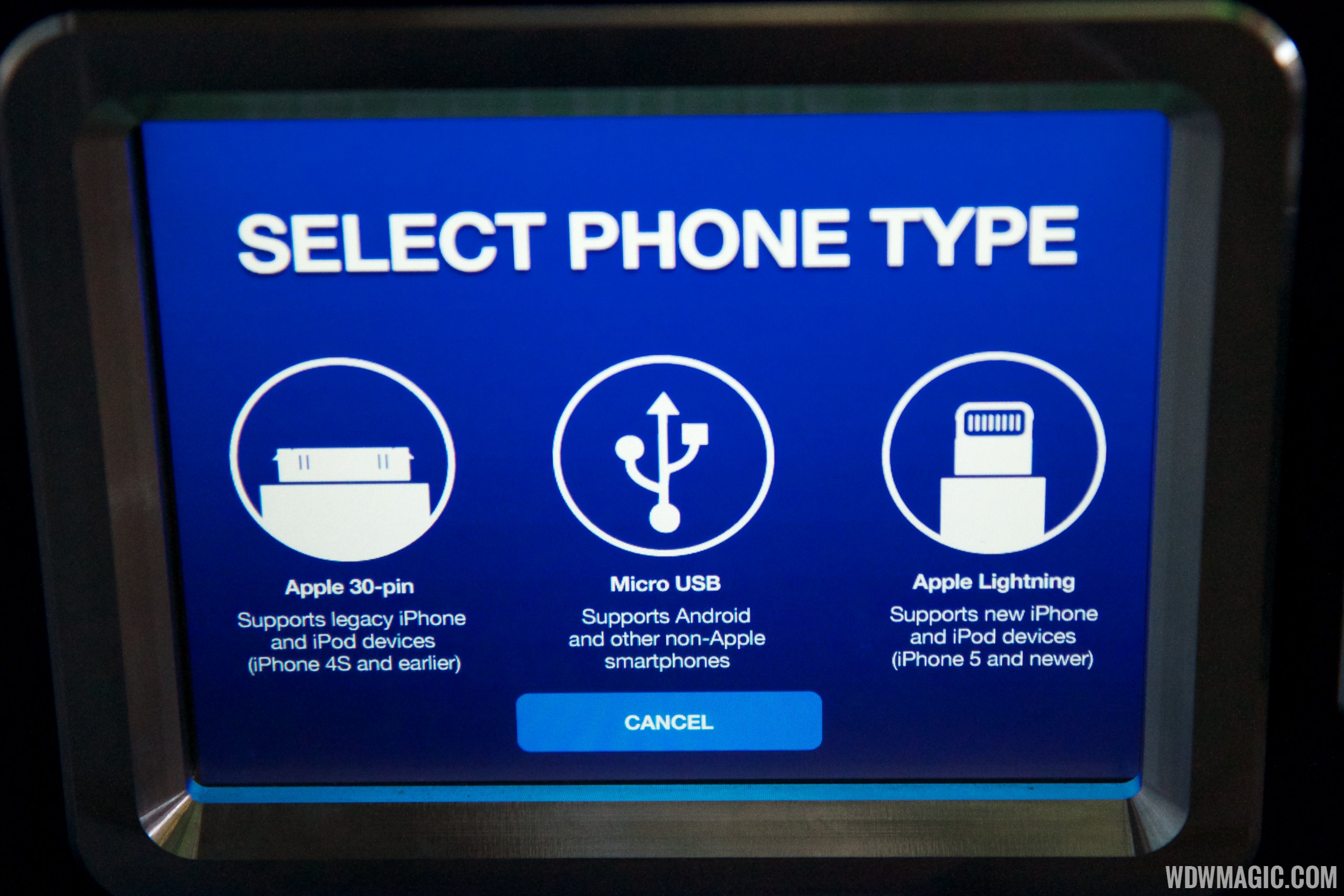 Select the phone type