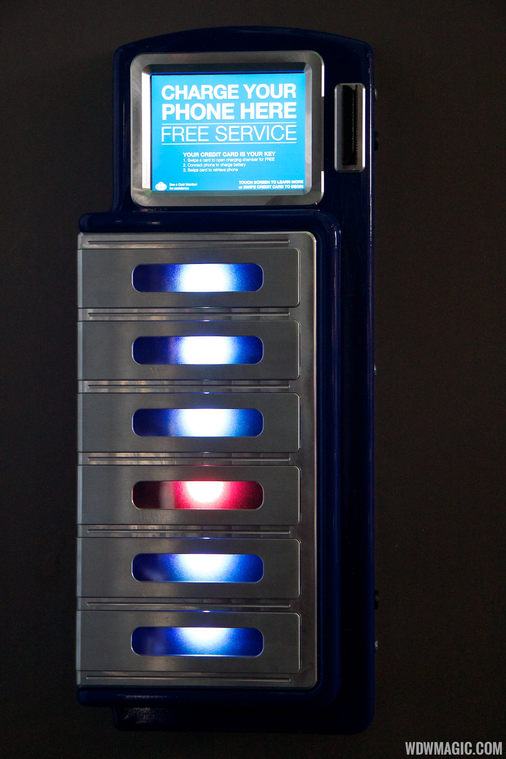 Unattended smartphone charging lockers