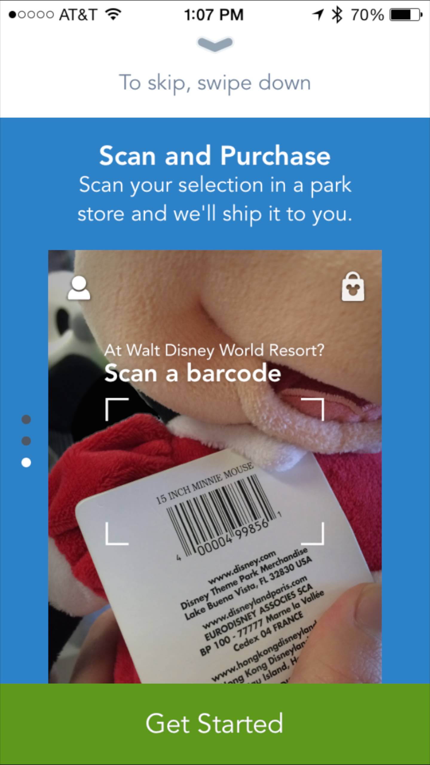 Shop Disney Parks app - Tour