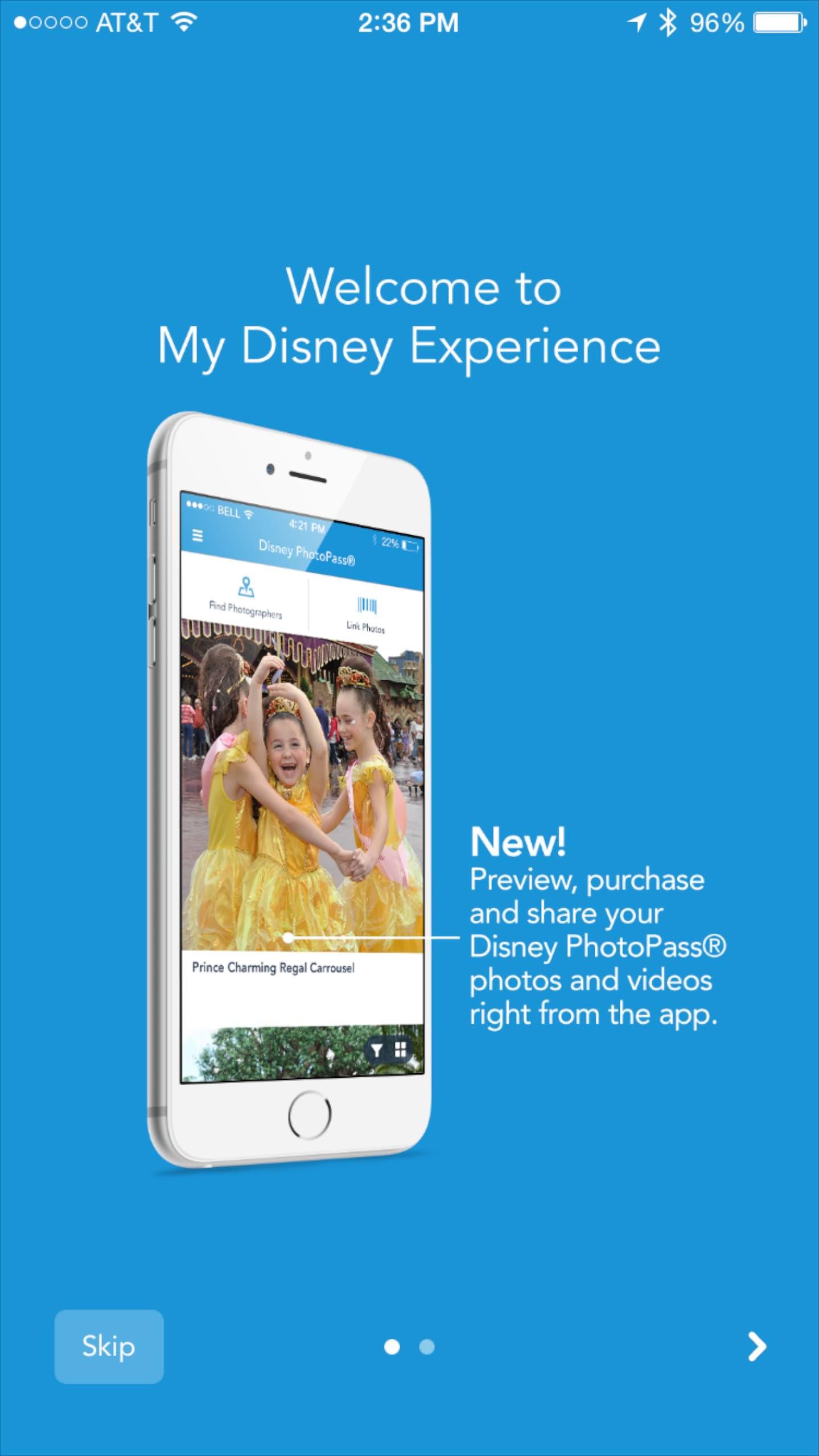 My Disney Experience PhotoPass screenshot - What's new