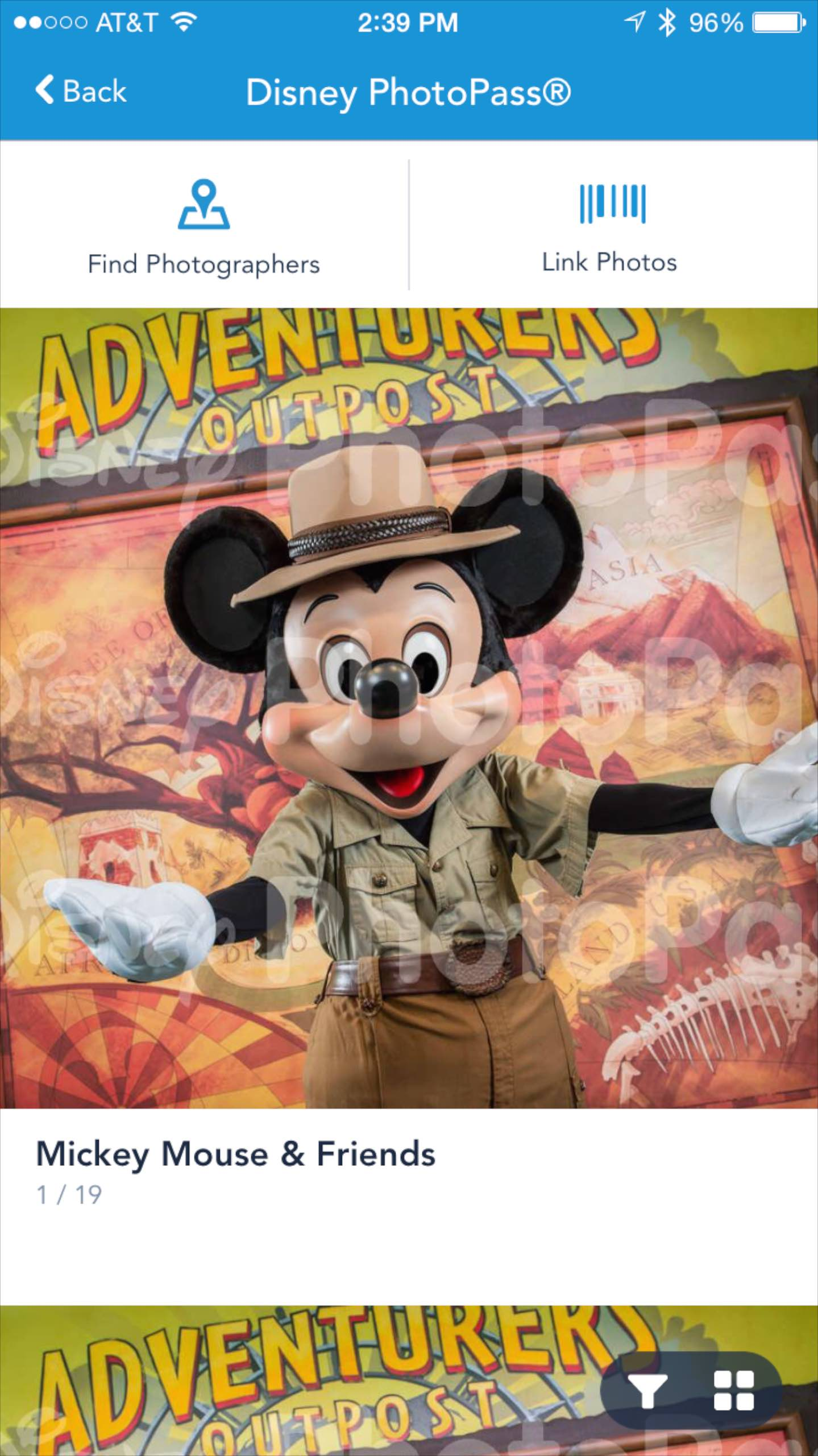 My Disney Experience PhotoPass screenshot - Preview