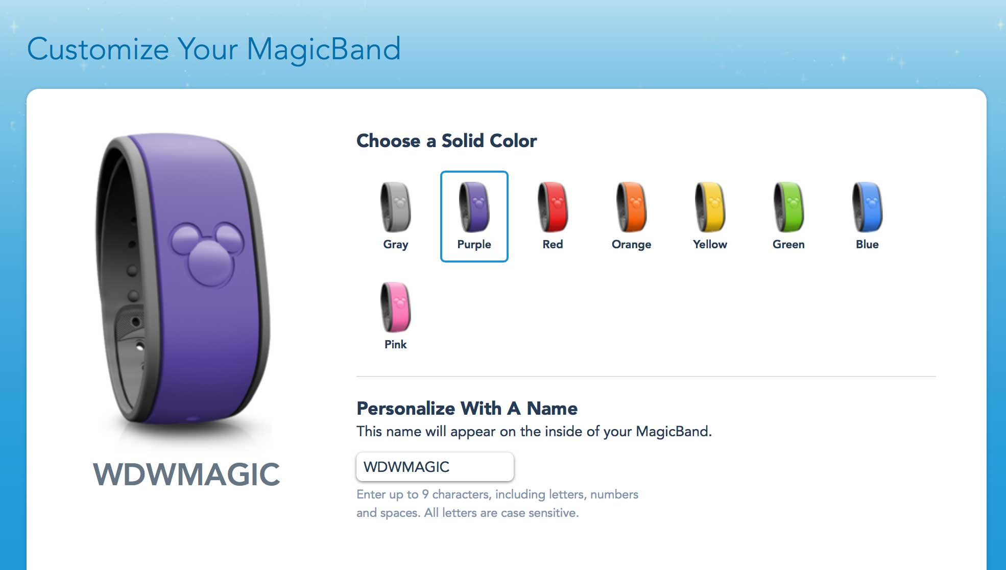 Purple MagicBand