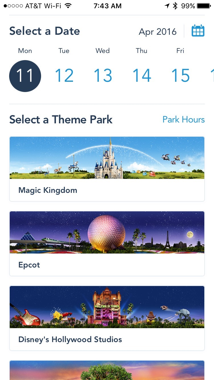 New FastPass+ process in My Disney Experience