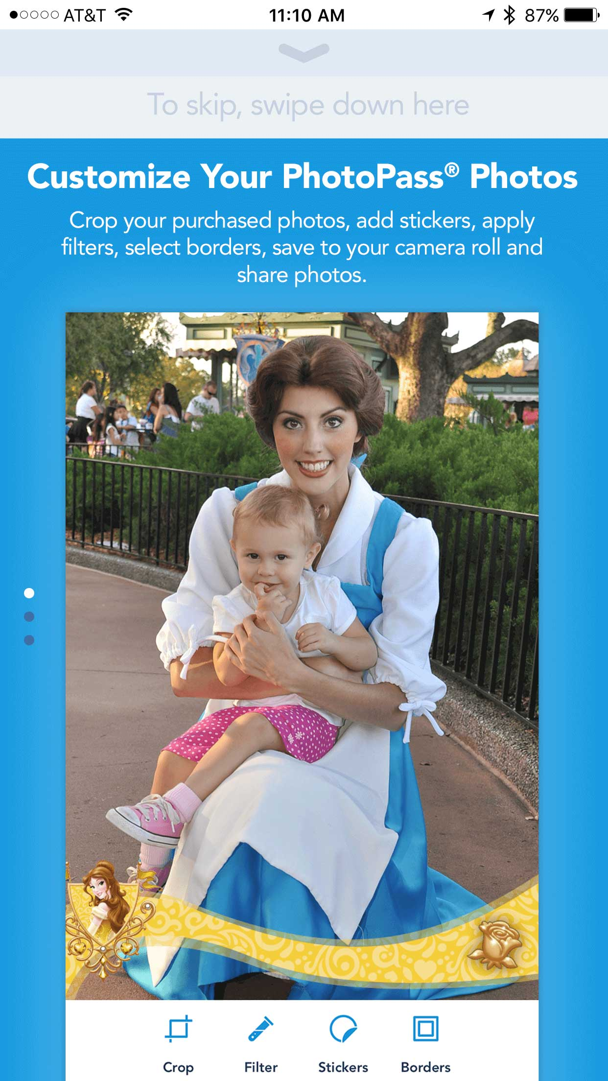 My Disney Experience PhotoPass editing