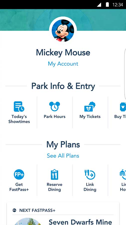 My Disney Experience Android v4