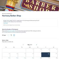 Online reservations for Harmony Barber Shop