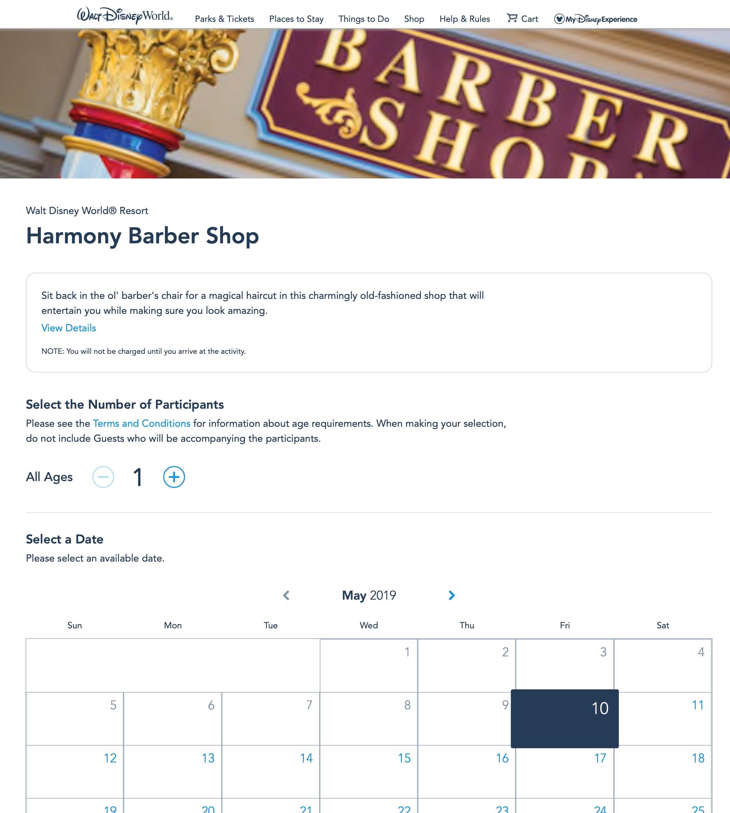 Online reservations for Harmony Barber Shop