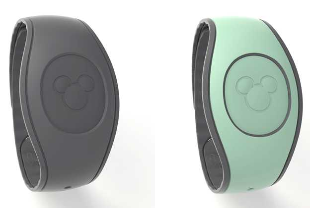 Dark Gray and Mint Green MagicBands