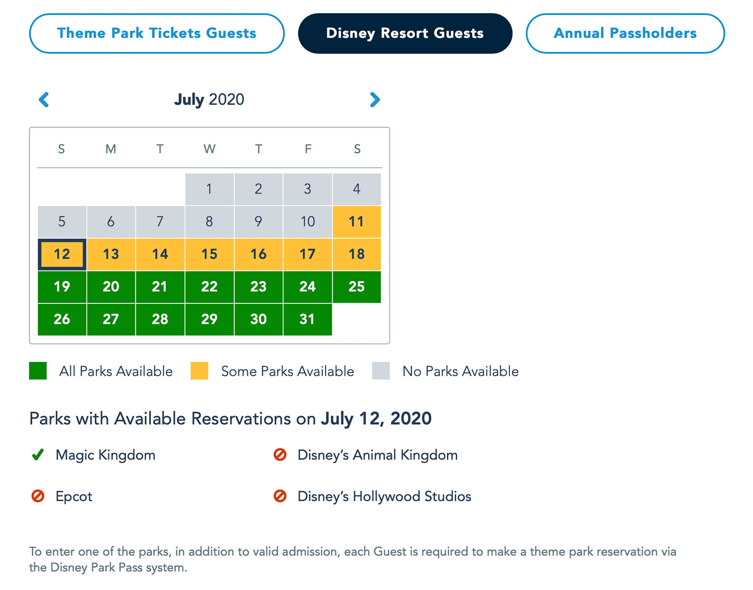Disney Parks Pass system - June 24