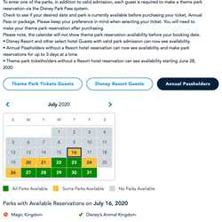 Disney Parks Pass system - June 26