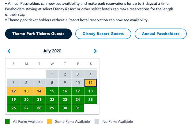 Disney Parks Pass system - June 28