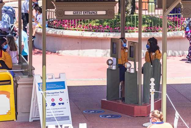 Magic Kingdom main entrance Facial Recognition test