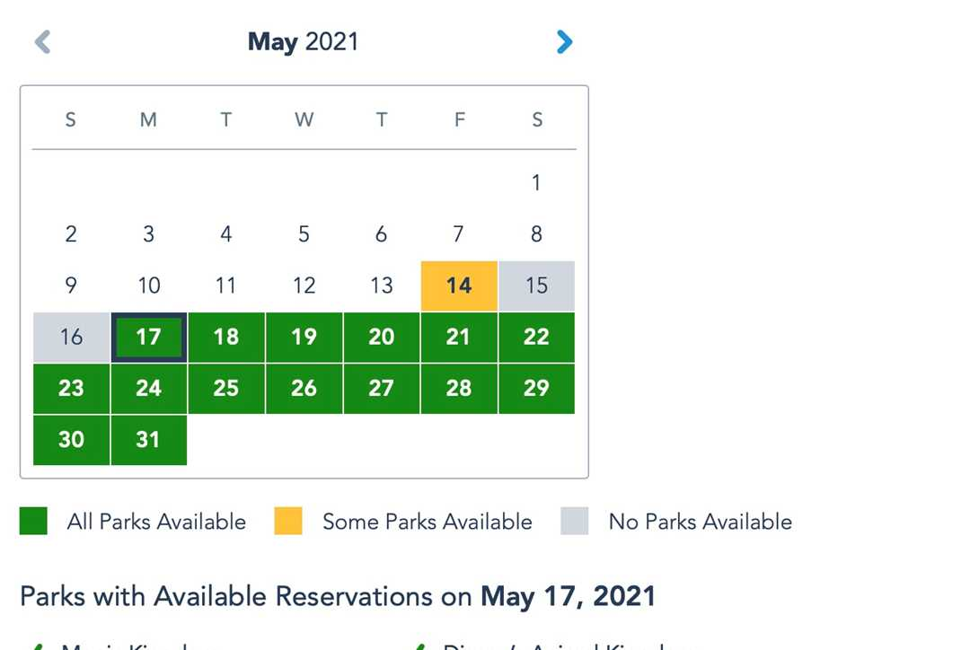 Significant increase to Disney Park Pass availability as park capacity is boosted at Walt Disney World