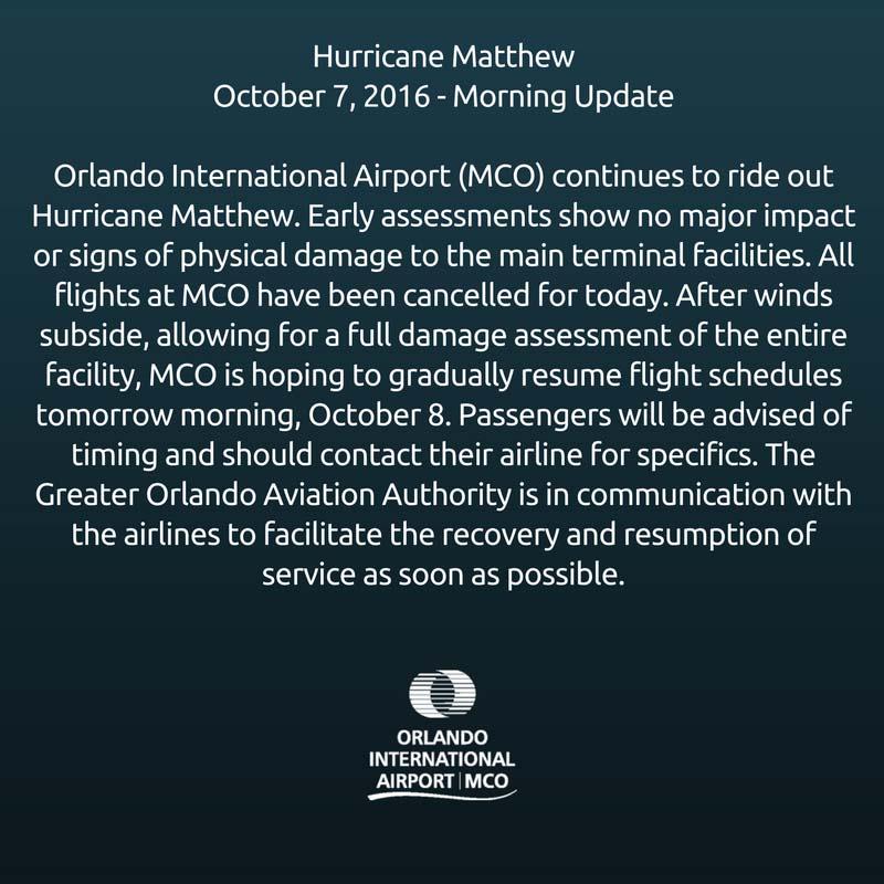 MCO October 8 status