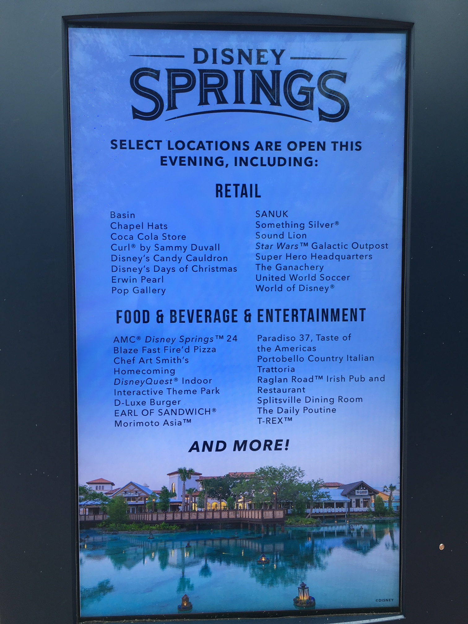Disney Springs post Hurricane Matthew restaurants and shops operating