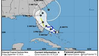 Potential Tropical Cyclone Nine to possibly impact the theme parks this weekend