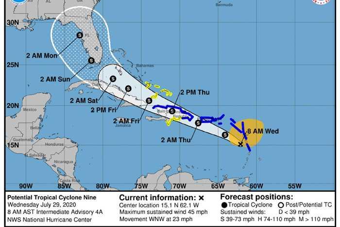 Potential Tropical Cyclone Nine 2020