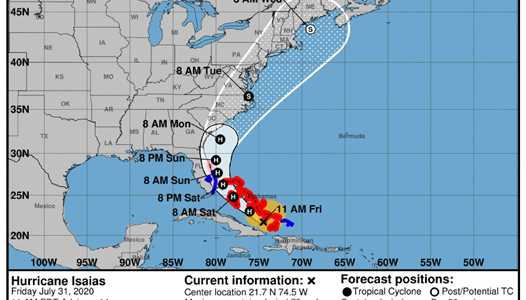 Hurricane Isaias effects may be felt as early as late Saturday night at Walt Disney World