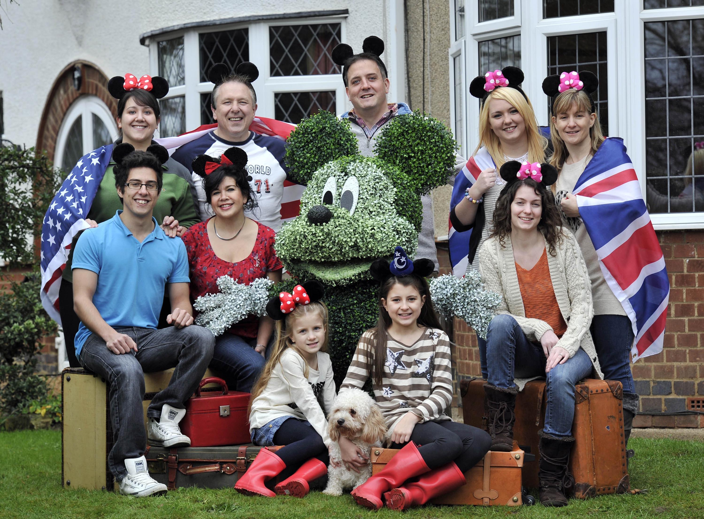 The world's first ever 'Walt Disney World Family'