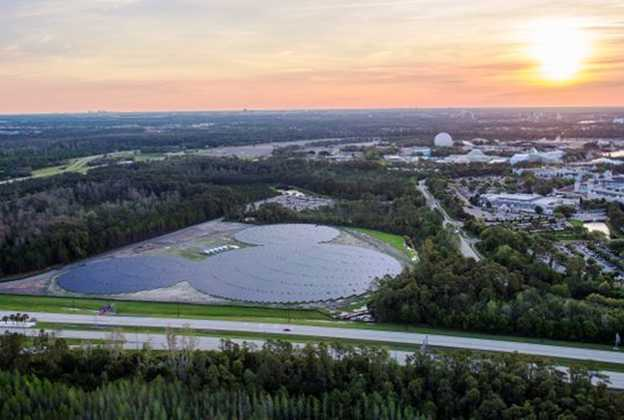 Completed Walt Disney World Solar Facility near Epcot