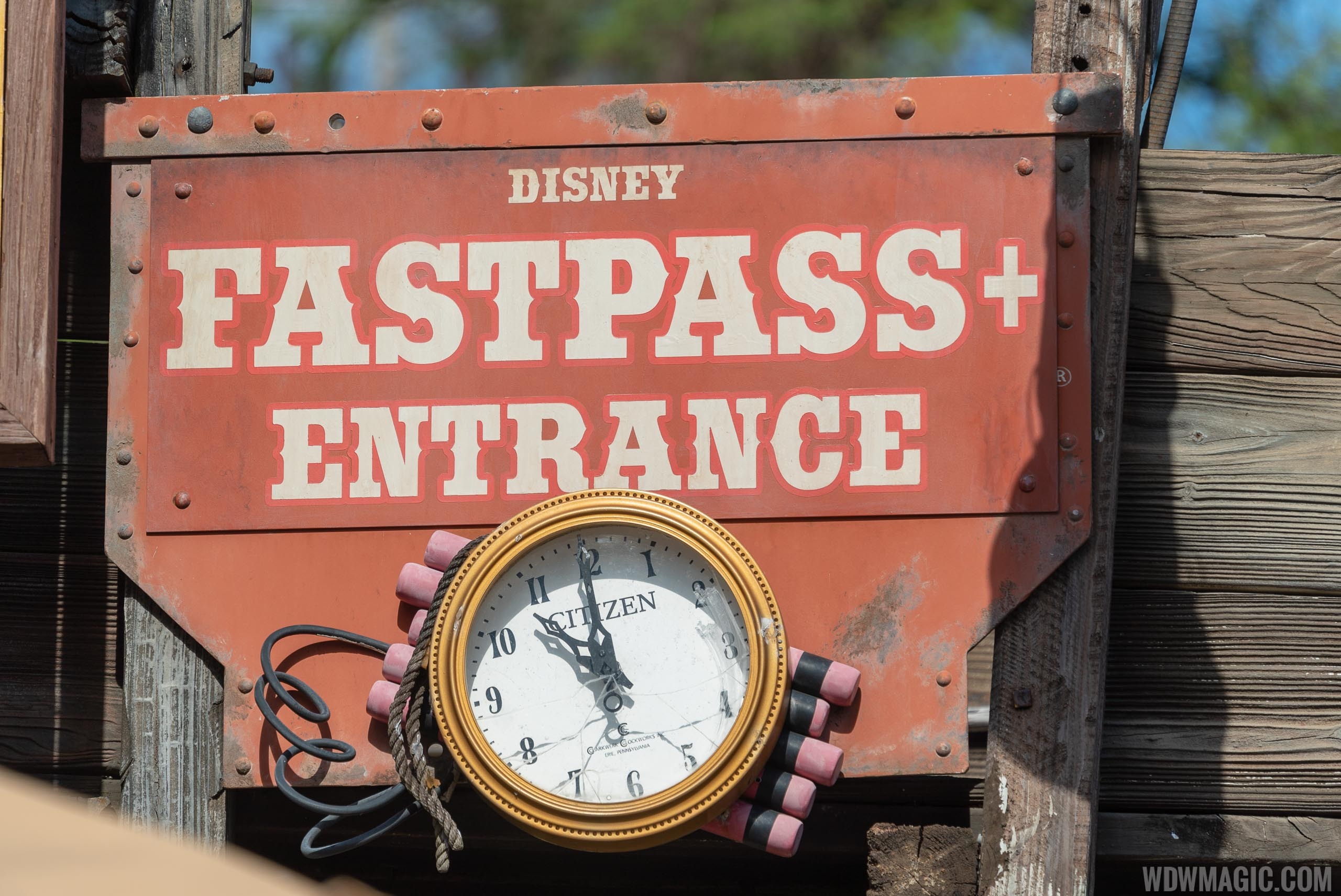 Citizen in-park FastPass clock at Big Thunder Mountain Railroad