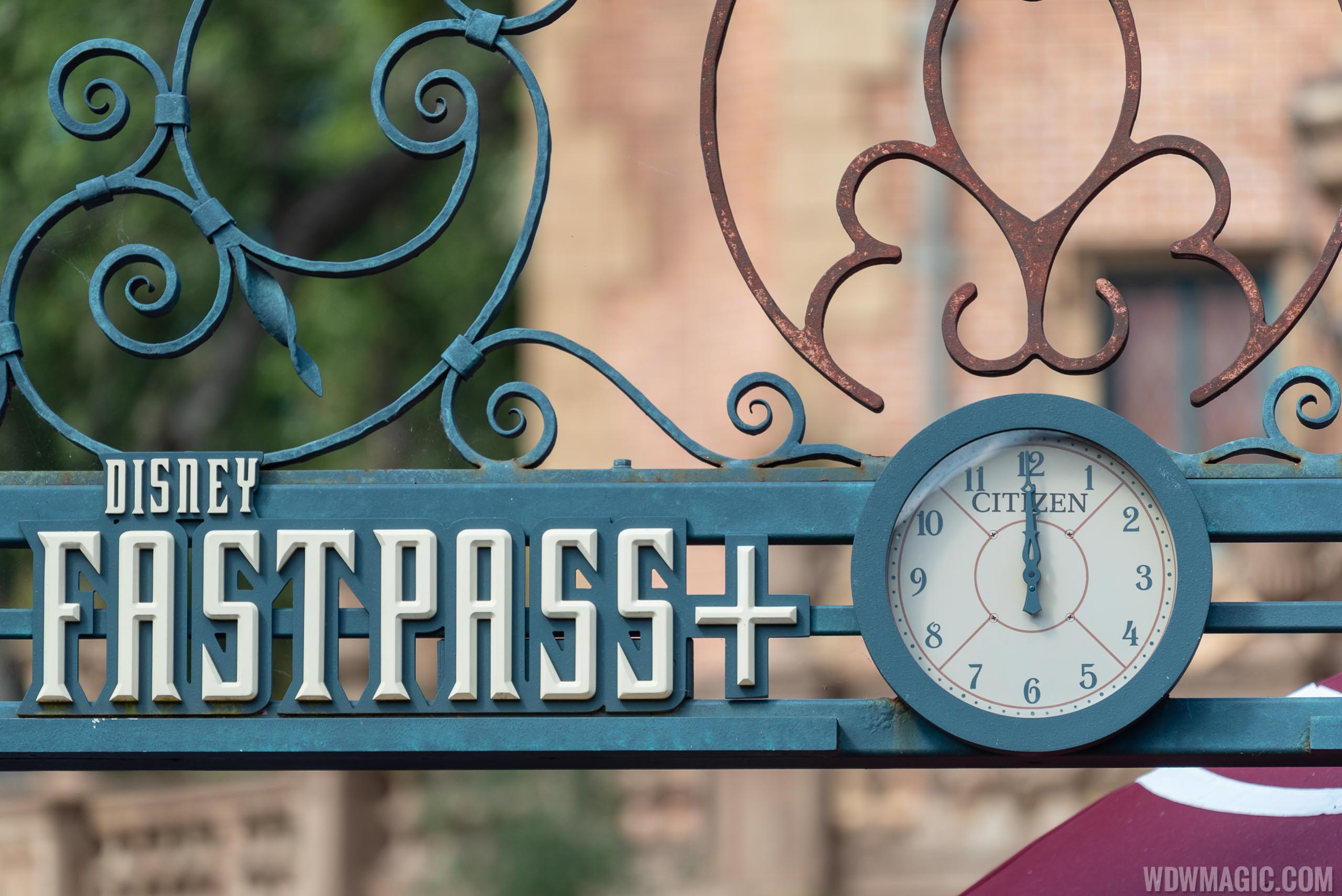 Citizen in-park FastPass clock at Haunted Mansion