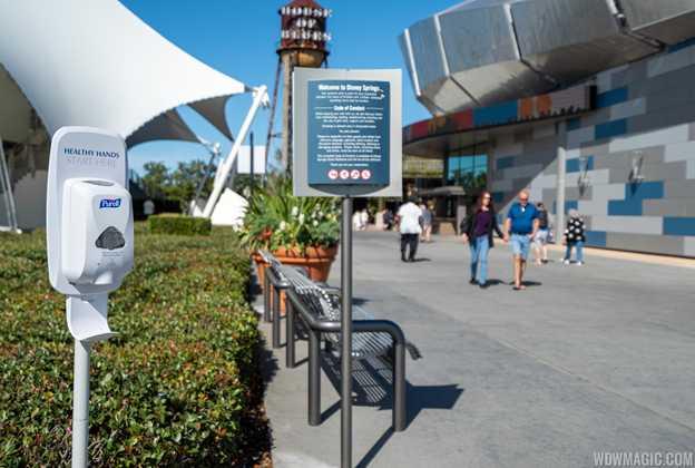 Hand-sanitizers at Walt Disney World