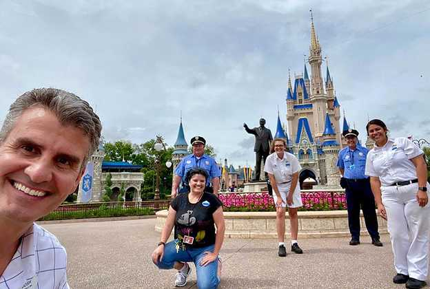 Walt Disney World President Josh D'Amaro at the Magic Kingdom