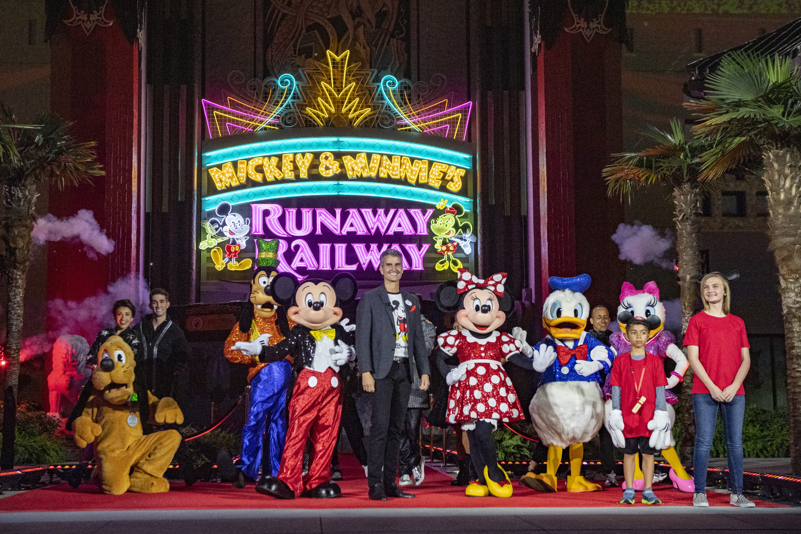 Josh D'Amaro at the recent opening of Mickey and Minnie's Runaway Railway
