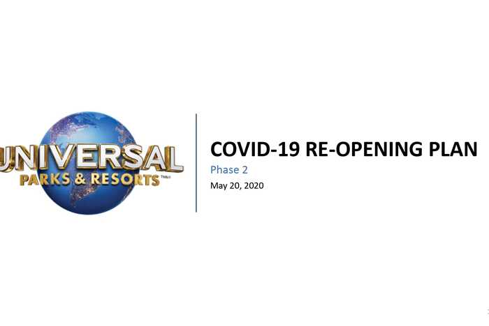 Universal Orlando COVID-19 reopening plan