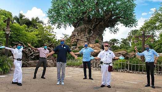 Walt Disney Co. executives visit Walt Disney World to celebrate reopening