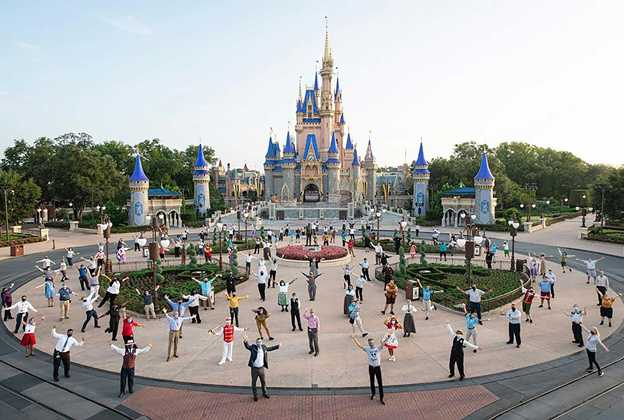 Disney executives at the reopening of Walt Disney World