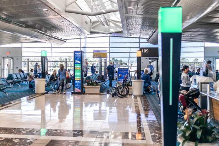 Even Flow Crowd Radar at Orlando International Airport