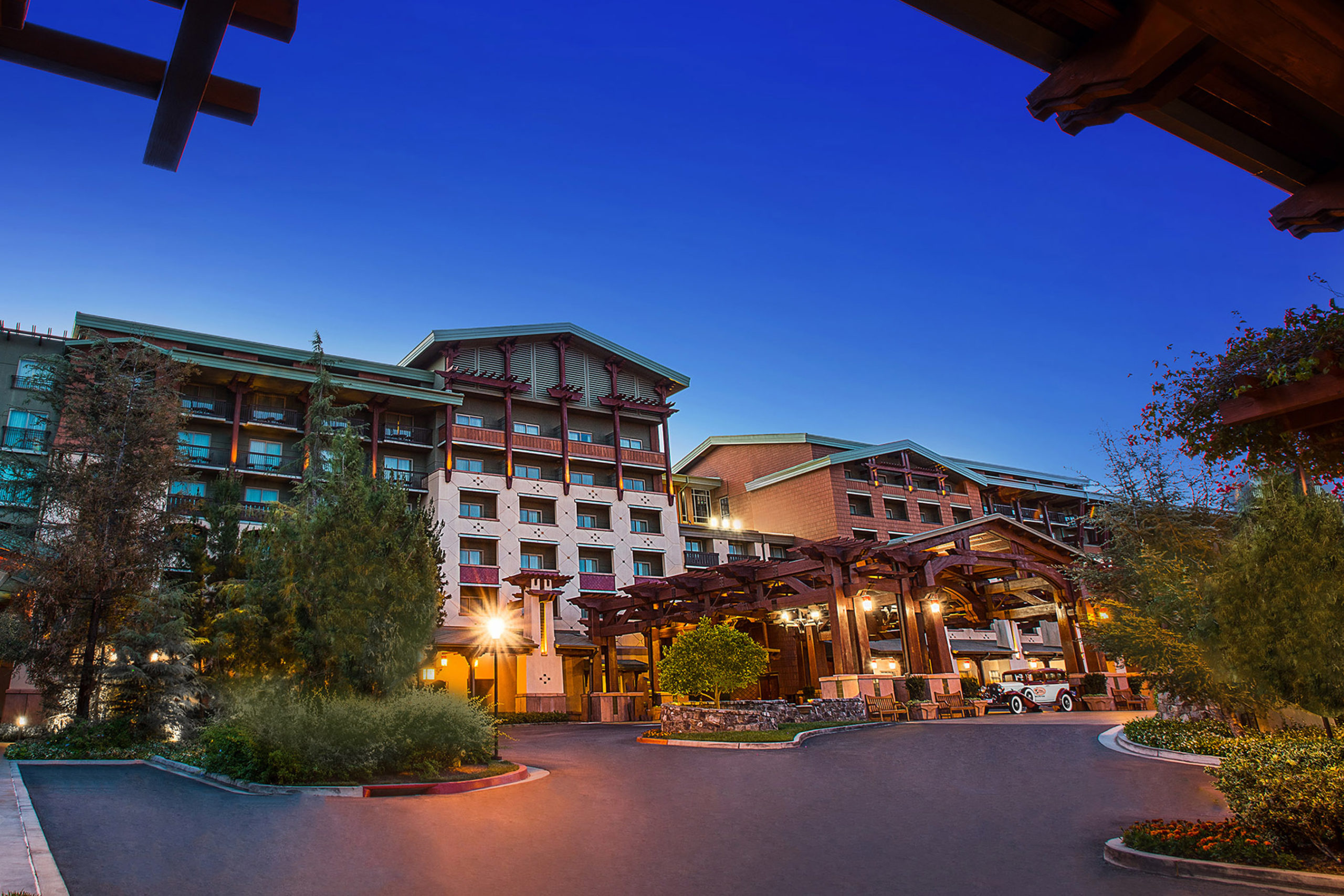 Disney's Grand Californian Hotel & Spa (pictured) plans to reopen on April 29, 2021