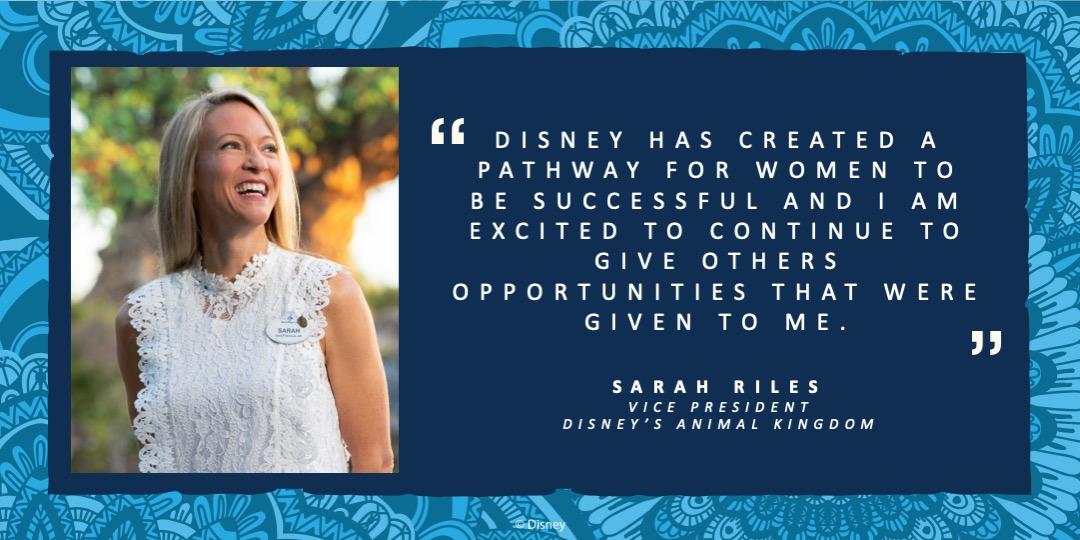 Sarah Riles, Vice President Disney's Animal Kingdom