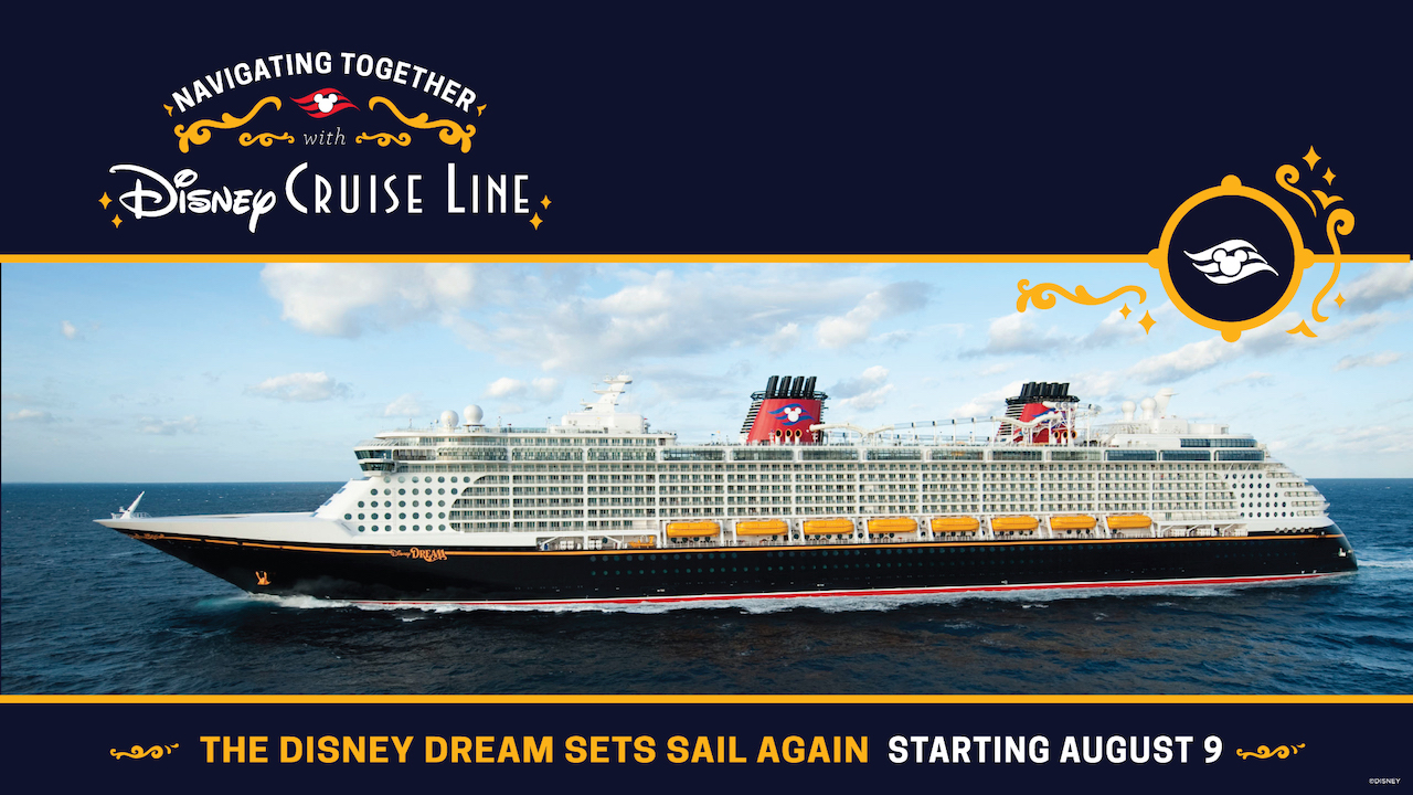 Disney announces the return of Disney Cruise Line voyages from Florida in early August with masks and testing