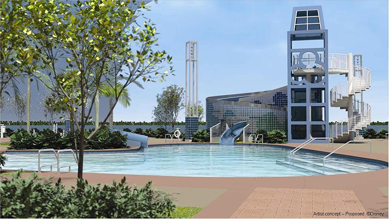 Bay Lake Tower concept art