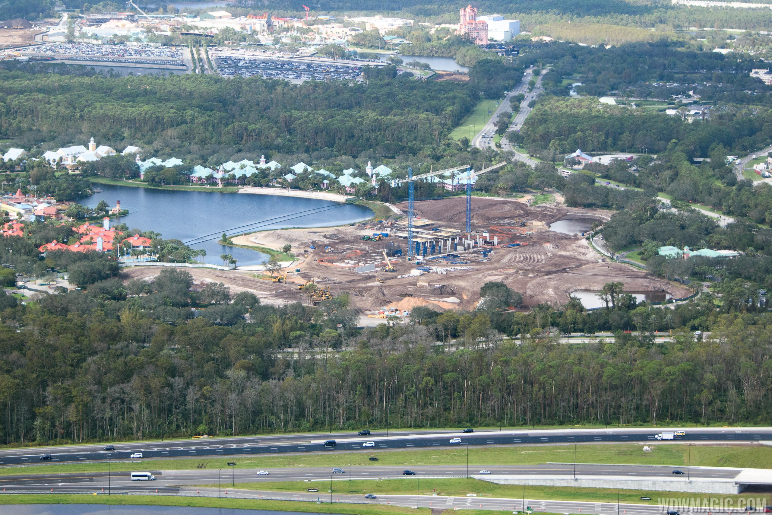 Disney Riviera construction from the air