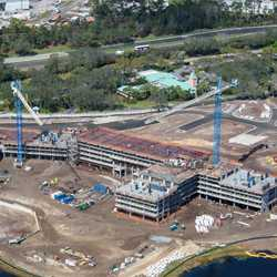 Disney Riviera construction from the air - February 2018